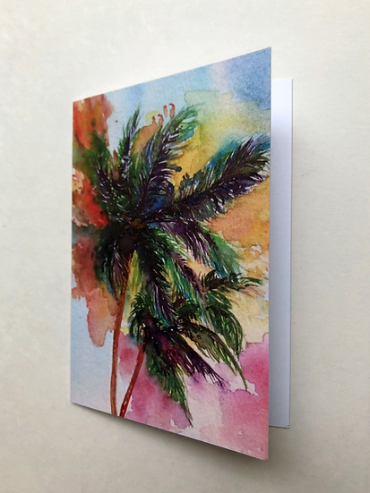 Palm Breeze - Greeting Card