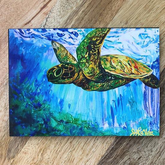 Flying Turtle - Block Print