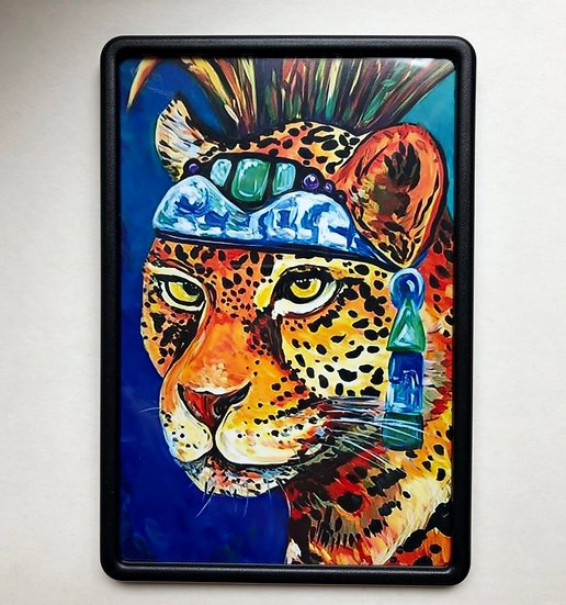 Aztec Jaguar Warrior - Magnet Large