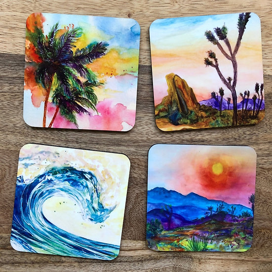 Wild California - Coaster Set