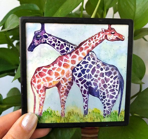 Giraffe Friends - Magnet