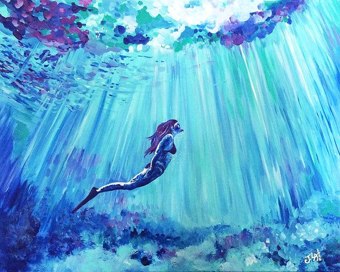"""The Depths- Original 24x30"""""""