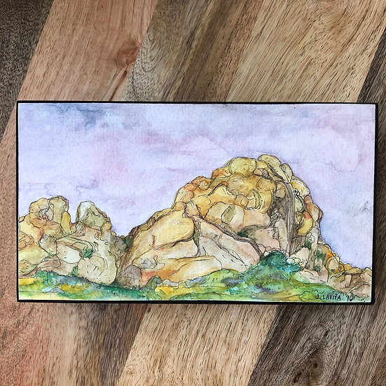 Joshua Tree Rocks - Original 5x9""