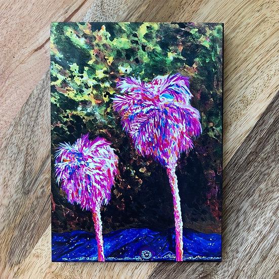 Pink Palms - Block Print