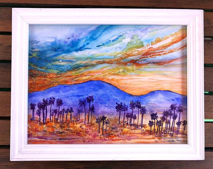 "Sunset Valley - Original 11x14"""