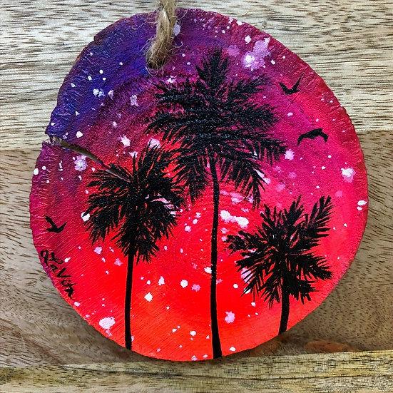 Neon Night Palms - Ornament Hanger