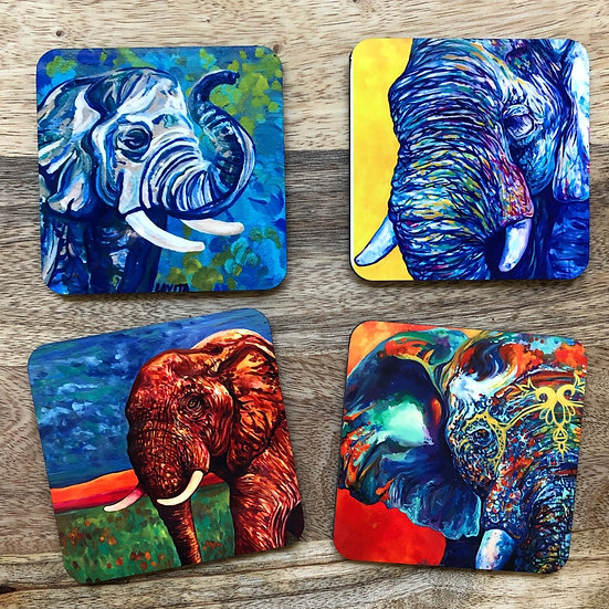 Elephants- Coaster Set