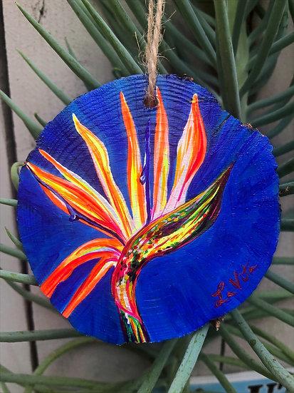 Neon Bird of Paradise - Ornament Hanger