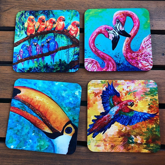 Tropical Birds - Coaster Set