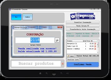 Sistema pré-pago consumação bar
