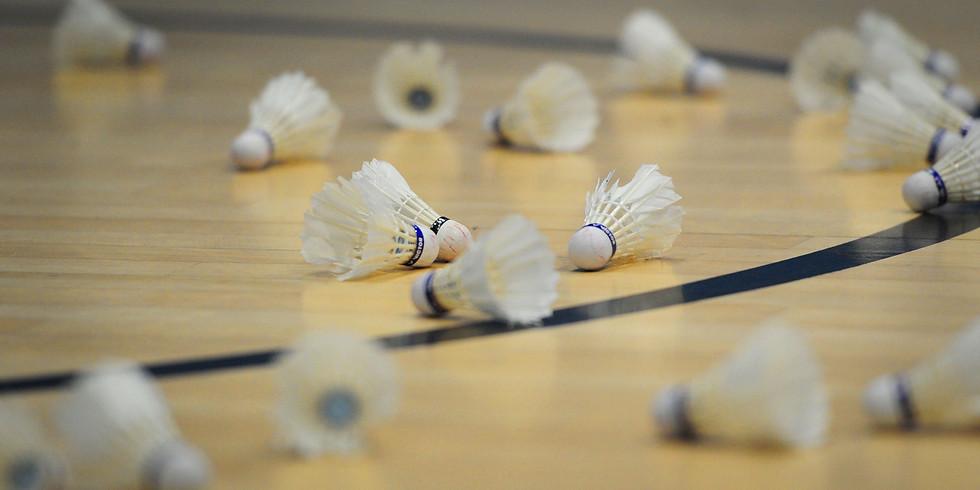 Badminton session  Wednesday