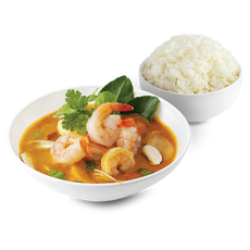 Tomyum Soup With Rice