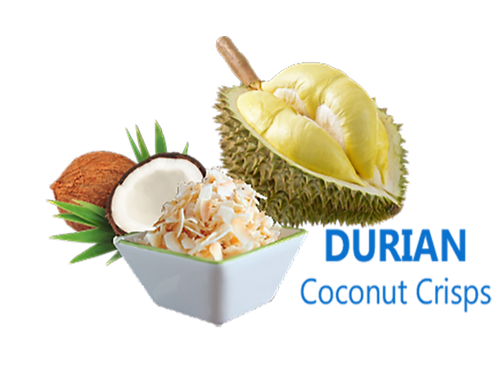 Baked Coconut Chips (Durian Flavor)