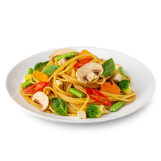 Chilli Basil Spaghetti (Vegetarian)