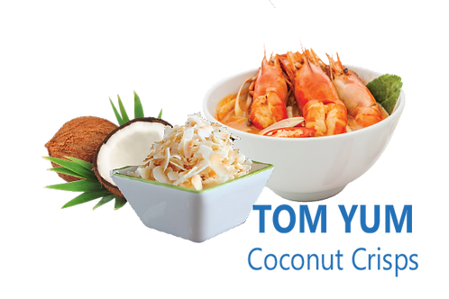 Baked Coconut Chips (Tomyum Flavor)