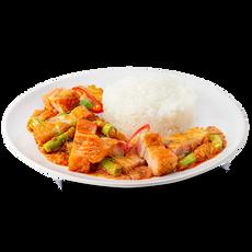 Pad Prik Khing With Rice