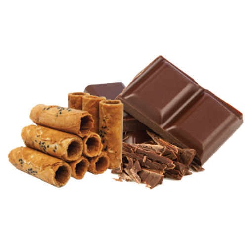 Crispy Coconut Rolls (Chocolate Flavor)