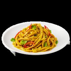 Stir Fried Curry Spaghetti