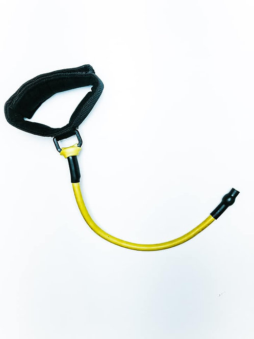 Yellow tubing with attached Ankle Cuff