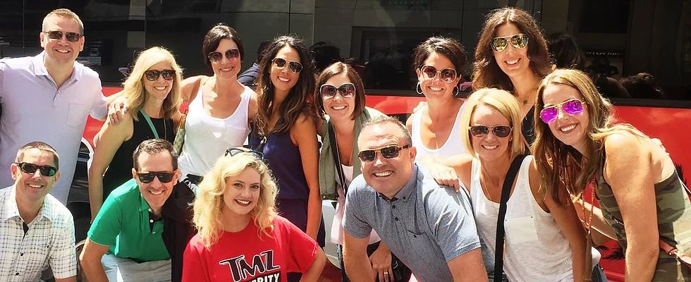 Group with TMZ Tour Guide