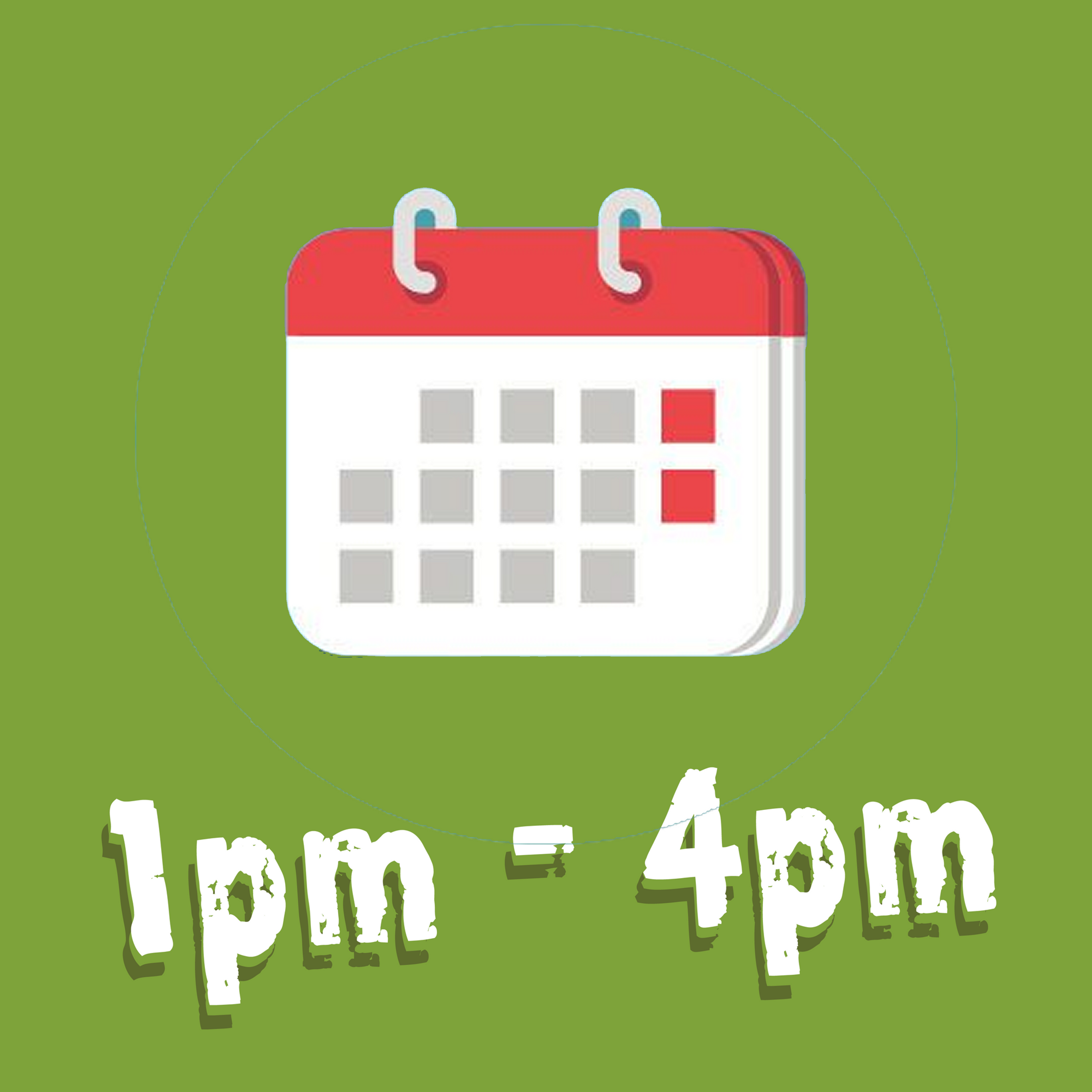 Afternoon 1pm - 4pm (Weekends/Holidays)