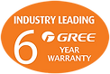 6-Year Warranty with all Gree NZ Heat Pump Air Conditioner
