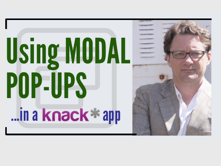 Using Modal Pop-Up Windows in a Knack Database App
