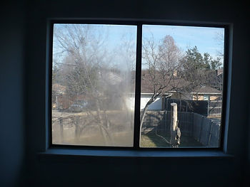 Fogged window glass - before picture
