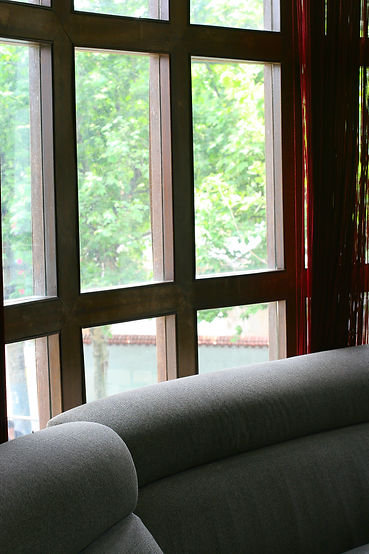 Glass Window in Living Room