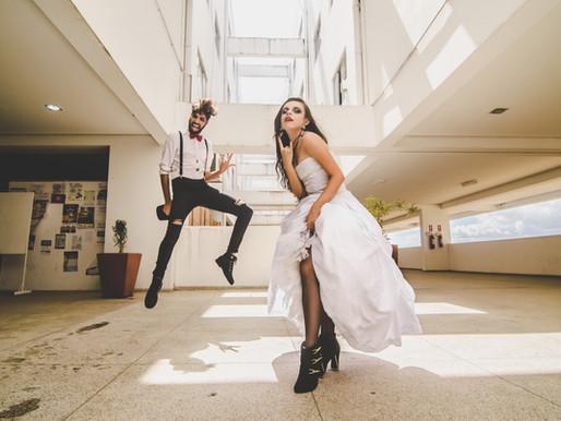 BlacKsamento: a atitude de noivos com 'pegada' rock n' roll