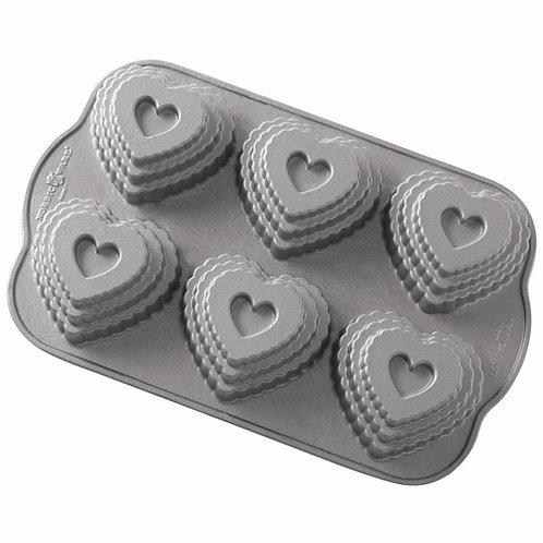 Tiered Heart Cakelet Pan