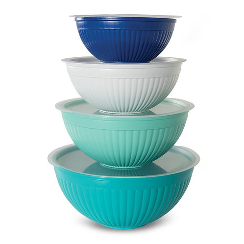 8 Piece Covered Mixing Bowl Set