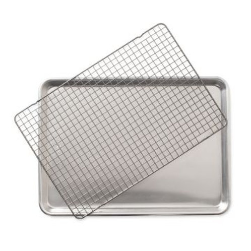 """2-Piece Half Sheet with Oven-Safe Grid (17.75"""" x 12.875"""" x 1"""")"""