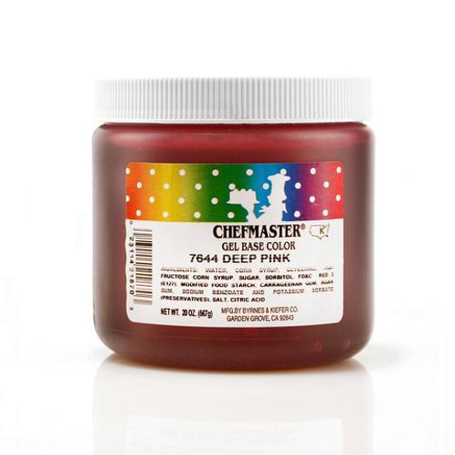 Chefmaster Gel Color Deep Pink 20-ounce / dozen