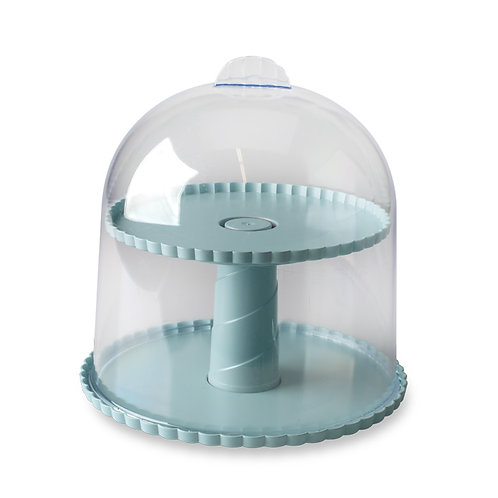 2-Tiered Dessert Stand with Dome Lid