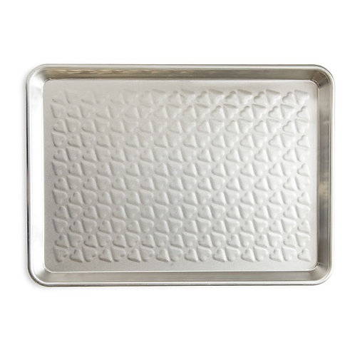 "Naturals® Embossed Heart Half Sheet Pan (17.75"" x 12.25"" x 1"")"