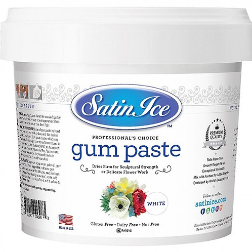 Satin Ice Gum Paste White 2lbs