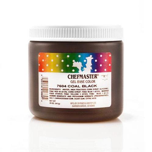 Chefmaster Gel Color Coal Black 20-ounce / dozen