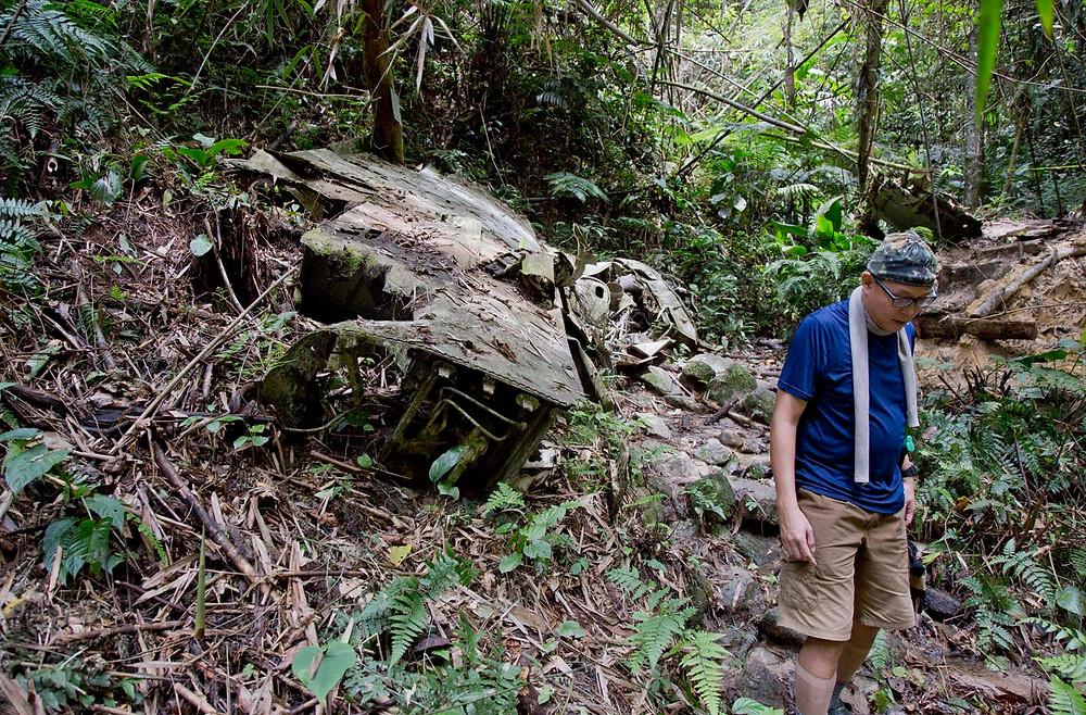 serembanonline © photograph of a B-24 Liberator bomber crashed in the jungle near Seremban's Gunung Berembun by photographer Nic Falconer nicaliss