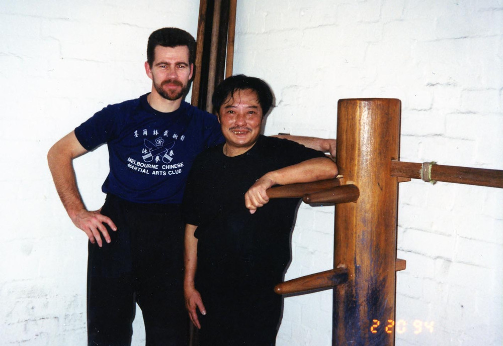 David Peterson in Melbourne with Wong Shun Leung.