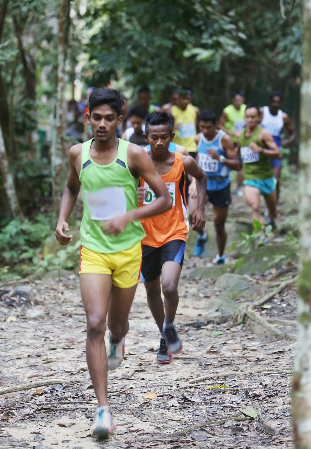 Runners make their way along forest trails in Ulu Bendul at Seremban.