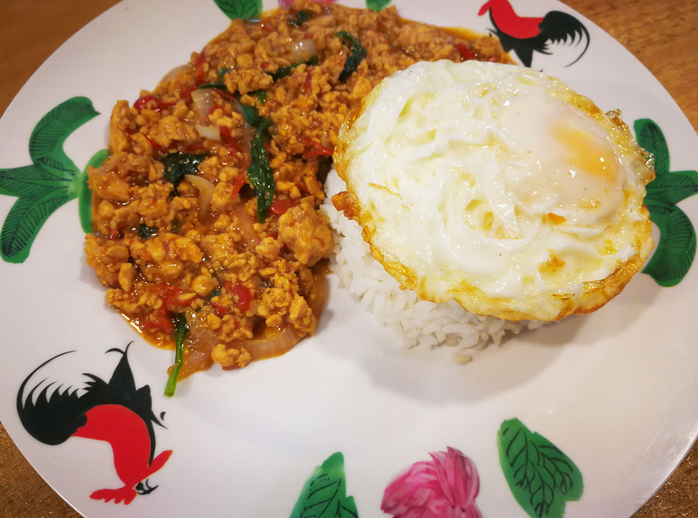 serembanonline photograph of siam siam boat noodles' Kra Pow chicken rice in Gateway Seremban by Nic Falconer  nicaliss