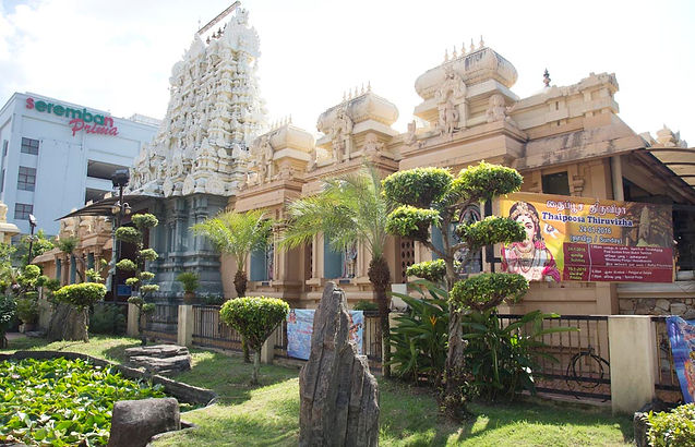 Sri Bala Thandayuthapani Hindu Temple in Seremban, Malaysia.