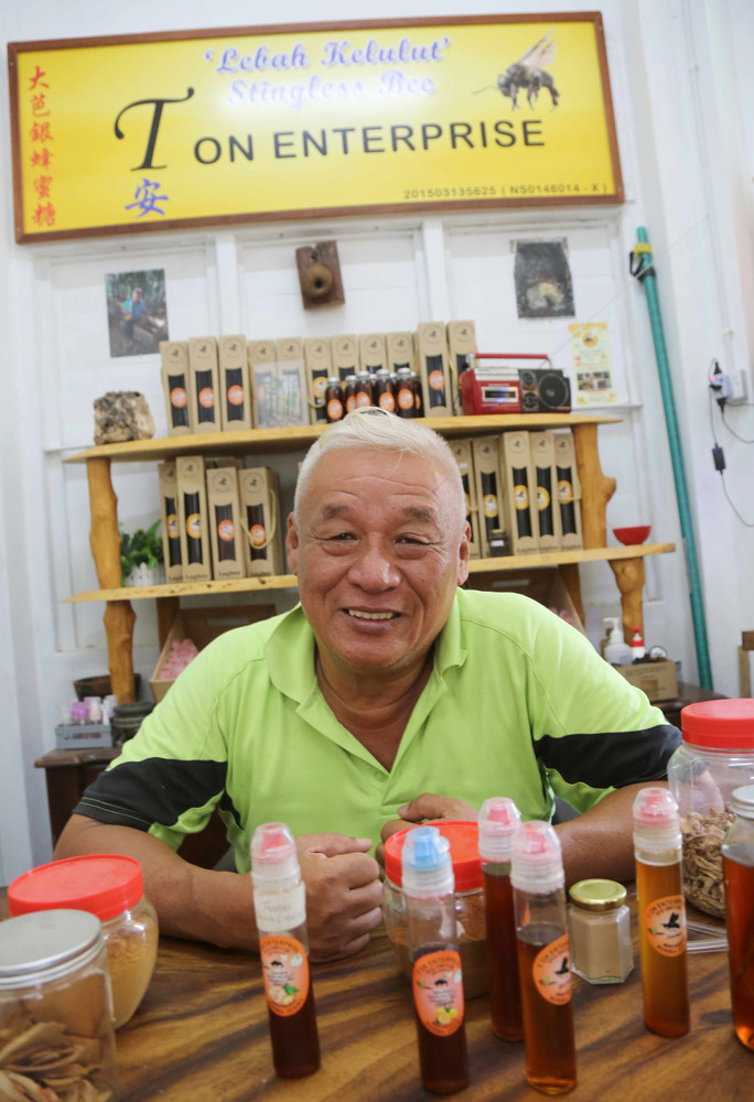 Honey man helps old folks
