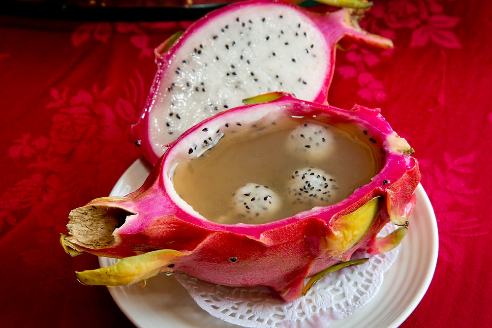 serembanonline.com photograph of Dragon fruit with brown sugar at Royale Chulan seremban by nicaliss Nic Falconer