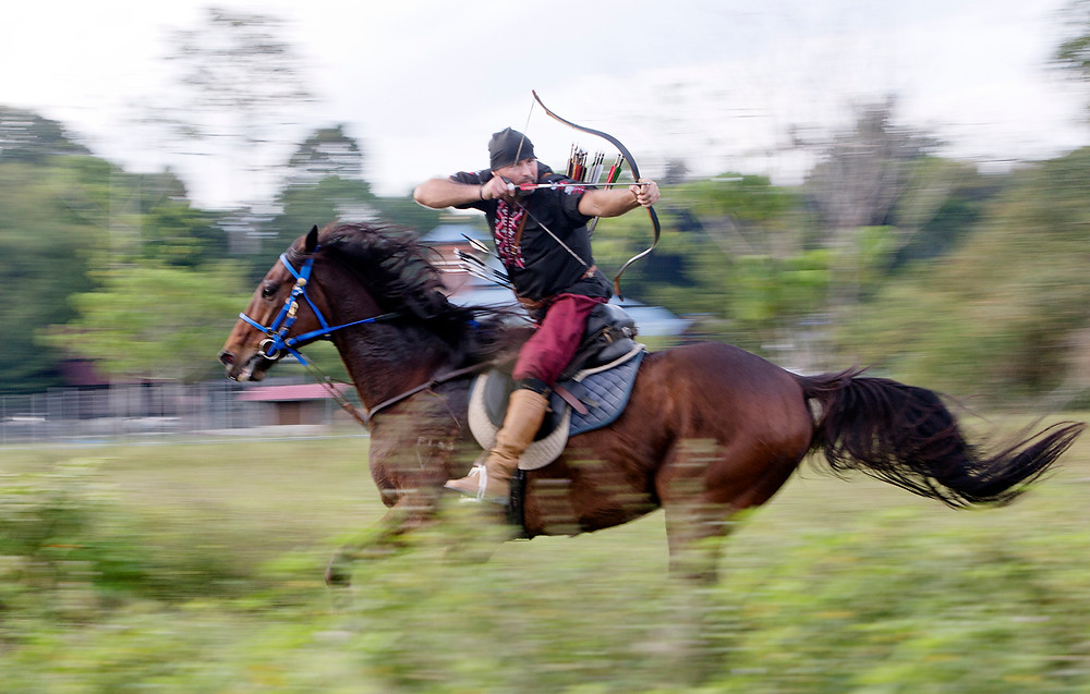 Ladang Alam Warisan attracts teachers of horseback archery from all over the world to come to Seri Menanti, near Seremban. Photograph by Nic Falconer nicaliss from serembanonline