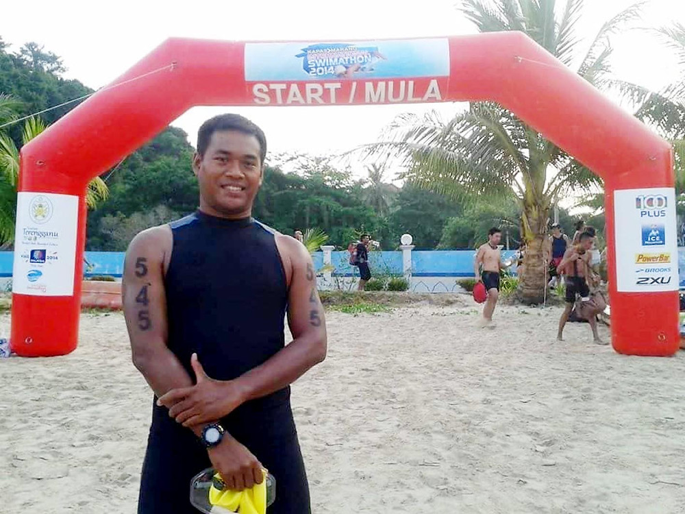 serembanonline photograph of swimmer Hairul Azman
