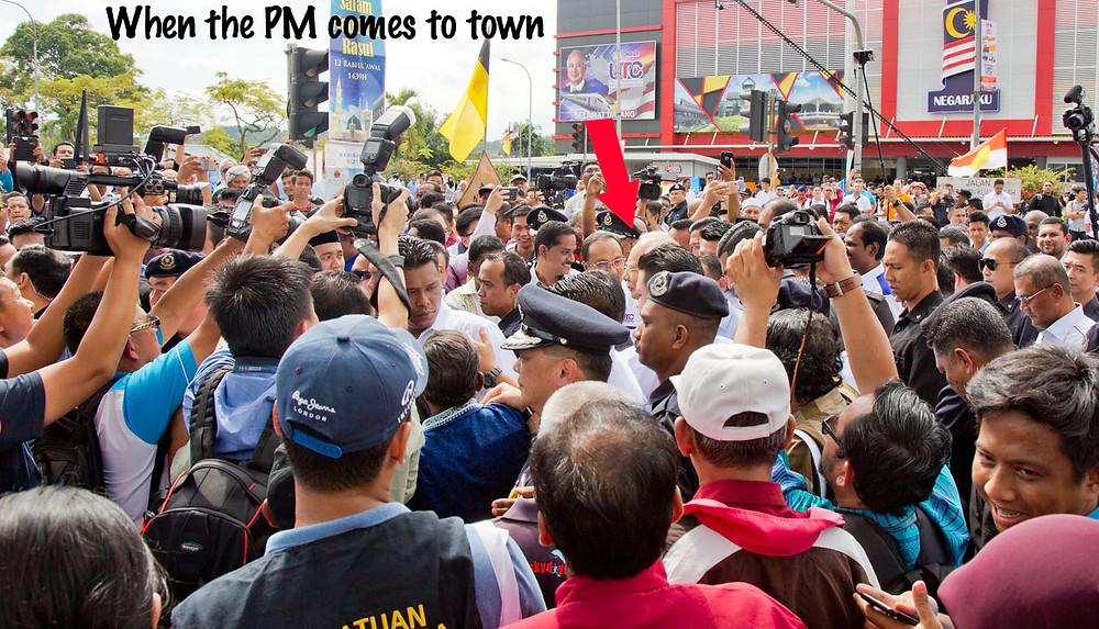 serembanonline photograph of Malaysian Prime Minister Datuk Seri Najib Razak at the UTC opening in Seremban