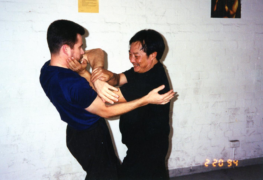 David peterson in Melbourne with Wong Shun Leung