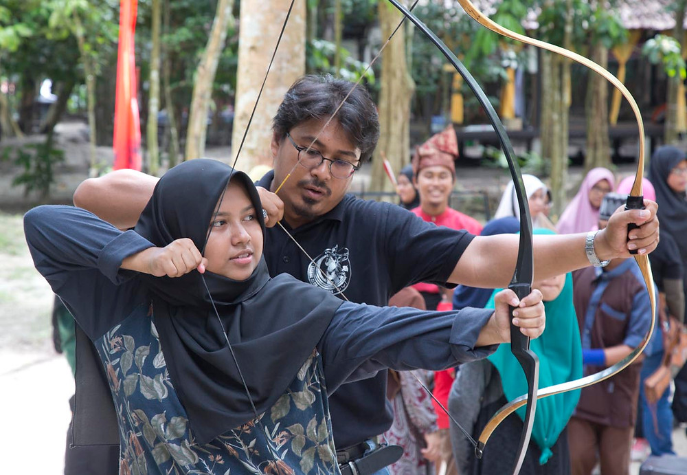 Ladang Alam Warisan is an archery training facility in Seri Menanti, near Seremban. Photograph by Nic Falconer nicaliss from serembanonline